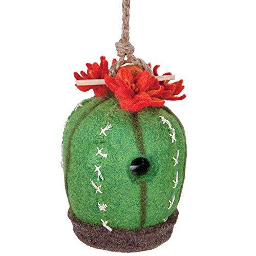 Wild Woolies Felt Birdhouse Barrel Cactus
