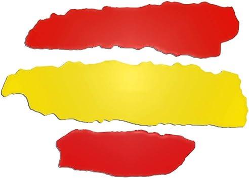 Gudotra 4pcs Pegatina Bandera España para Coche Pared Puerta Nevera Carpeta Spain Flag Colores: Amazon.es: Coche y moto