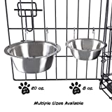 Stainless Steel Hanging Pet Bowls for Dogs and