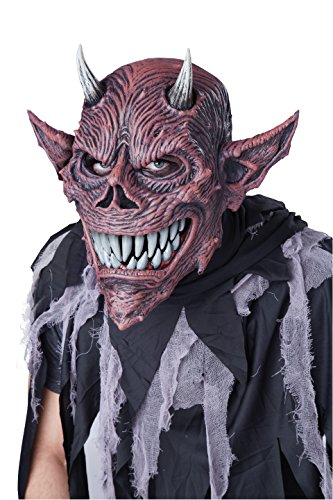 Halloween Costume Ideas For Masquerade Masks (California Costumes Men's ANI-Motion MASK, Devil's Feast, One)