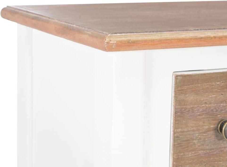 pedkit Aparador de Madera Maciza Muebles Bar para Salon Blanco 54x30x80 cm