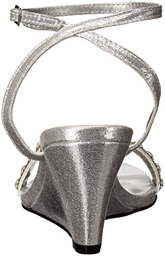 Sandal Women's Silver Wedge Carter Ups Touch wRq18cI1