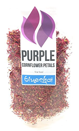 Purple Cornflower Petals - Premium Organic Quality - Perfect for Beverages, Cakes and Culinary Delights, Grade A