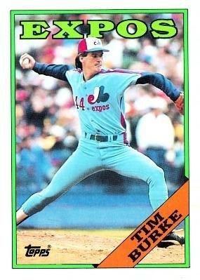 Tim Burke Montreal Expos (Baseball Card) 1988 Topps #529