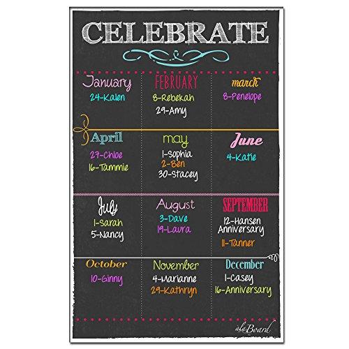 Birthday Calendar Magnet Black ()