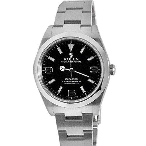 Rolex Explorer (Rolex Explorer 1 Black Dial Steel Mens Watch 214270)