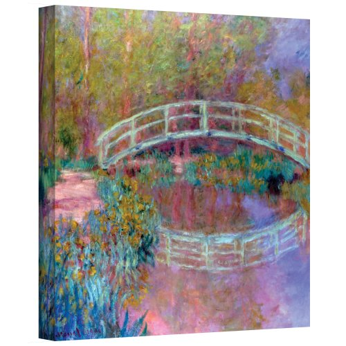 ArtWall Japanese Bridge Gallery Wrapped Canvas by Claude Monet, 24 by 32-Inch