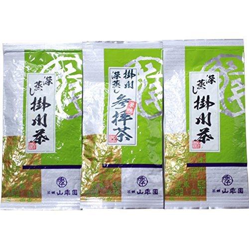 Japanese tea tea tea leaf tea worship 100gX1 bags + Fukashi Kakegawa steamed tea 100gX2 bags set by Tea house mountain year Garden of Sugamo