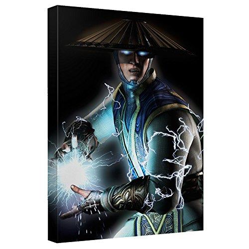 Raiden -- Mortal Kombat -- Stretched Canvas Framed Artwrap, 8x12