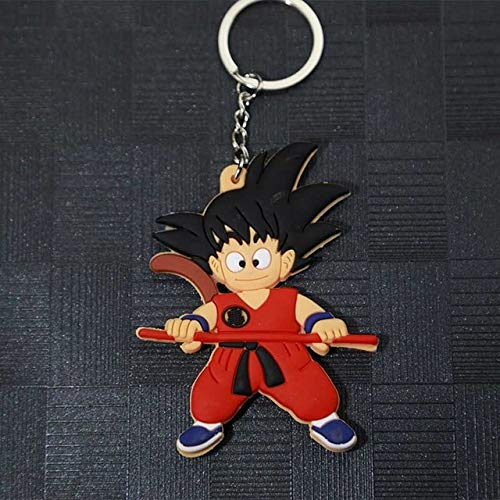 Lemongrass. New Cartoon Anime Keychain Son Super Saiyan Silicone PVC Keychain Action Figure Pendant Keyring Collection Toy Holiday Must Haves Gift Ideas My Favourite Superhero Party Decorations (Dragon Ball Super Card Game Vegito Blue)