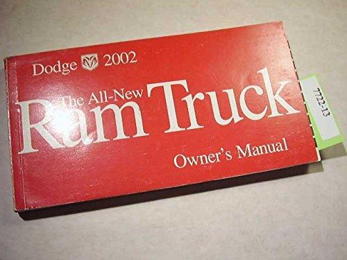 2002 Dodge Ram 1500 Pickup Truck Original Owner's Manual