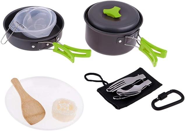Toygogo Aluminio Camping Lío Kit Utensilios De Cocina ...