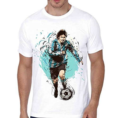 762e3d80 Shopbuzz Messy Football High Quality Graphic Printed Polyester Tshirt by  Polyester Printed Tshirt for Men