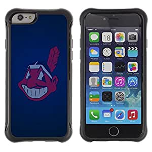 Jordan Colourful Shop@ Cleveland Indian Baseball Rugged hybrid Protection Impact Case Cover For iphone 6 6S CASE Cover ,iphone 6 4.7 case,iphone 6 cover ,Cases for iphone 6S 4.7