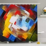 DaniulloRU Shower Curtains Set With Hooks 72 x 78 Inches Abstract Geometric Picasso Oil Canvas Pastel Famous Georges Braque Matisse Van Waterproof Fabric Decor For Bathroom A bathroom is where you spend a considerable part of your day, it's a place t...