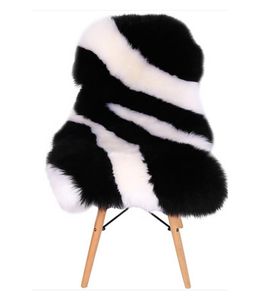 YAOHAOHAO Luxury sheepskin blankets milestones chair seat cushion lint pad fur carpet for the bedrooms