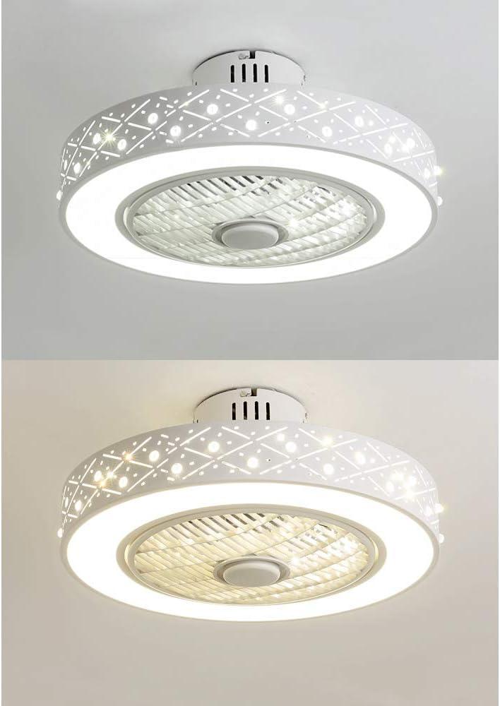 lampadario velocit/à del vento regolabile per cameretta dei bambini Ventilatore da soffitto a LED 48 W con telecomando luce di ventilazione dimmerabile silenzioso da soffitto