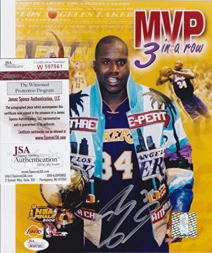 SHAQ SHAQUILLE O'NEAL signed LA LAKERS 2002 FINALS 8x10 Photo + COA W597561 - JSA Certified - Autographed NBA Photos