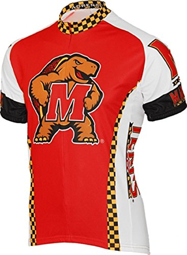 NCAA Adrenaline Promotions Maryland Cycling Jersey,Large(red/white) ()
