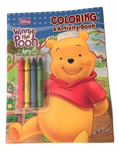 Disney Winnie the Pooh Coloring and Activity Book ~ Pooh Friendly Fun (With 4 Jumbo Crayons)