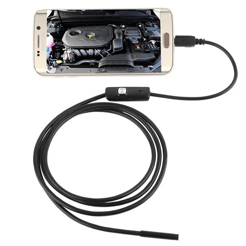 Inspection Camera,MindKoo 1.3 Million Pixels HD Android Endoscope IP67 Waterproof 6LED Borescope Inspection Tube Camera with USB Adapter(Included) for Android Device with OTG function