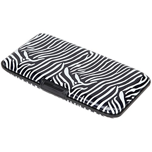 Home-X Animal Print RFID Security Wallet, Shield Yourself from Fraud in Style, Zebra (Women Wallet Animal Print)