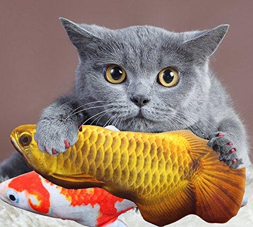 Catnip Toys Set Simulation Fish Shape DollFor (Catnip Filled Ball Pillows)
