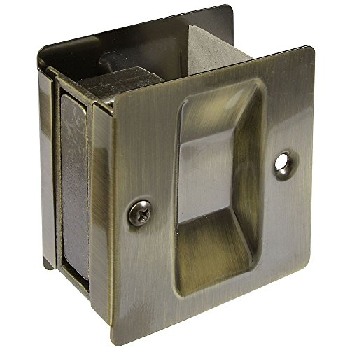 National Hardware N336-404 V1950 Pocket Door Pull in Antique Brass (Mirror Door Antique)