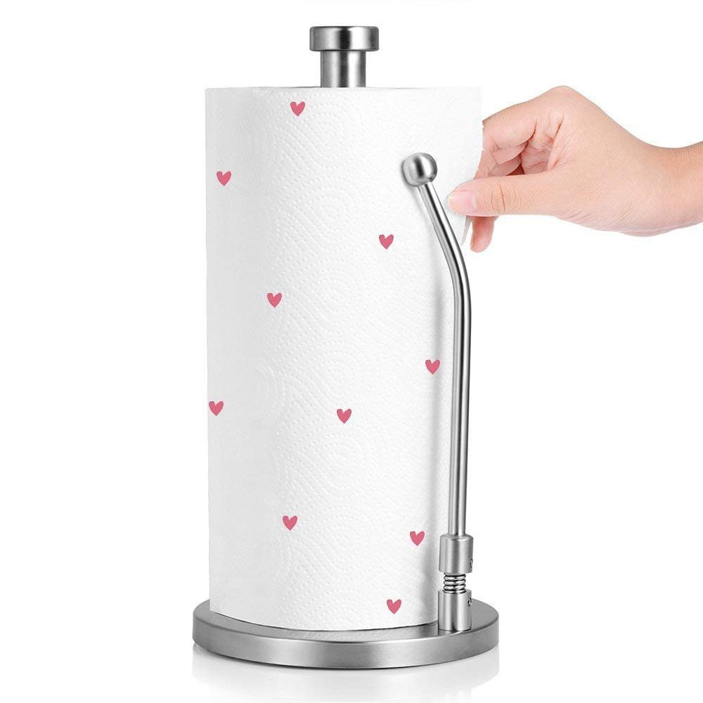 Brushed Stainless Steel Standing Paper Towel Holder