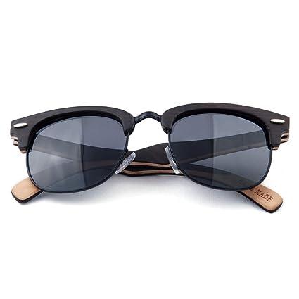 Gafas de moda Gafas de sol de madera semi-sin montura hechas ...