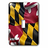 3dRose lsp_236170_1 US State Flag of Maryland Waving in the Wind Single Toggle Switch