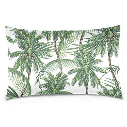 (FJPT Palm Tree Tropical Coconut Holiday Pillow Cover Outdoor Decorative Oblong Pillow Cover Cushion Cover Two Sides (4, 12x20 Inch))