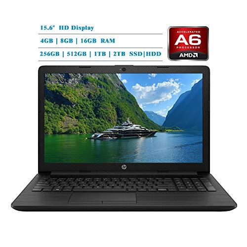 HP 2019 Newest Premium 15.6-inch HD Laptop, AMD A6-9225 Dual-Core 2.6 GHz, 4GB/8GB/16GB RAM, 1TB/2TB...