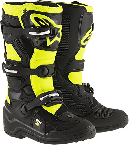 Alpinestars Unisex-Child Tech 7S Youth Boots (Black/Yellow, Size 2)