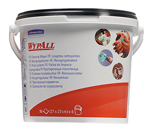 WYPALL* Cleaning Wipes (product code 7775) 90 green, pre-soaked sheets per bucket (box contains 6 buckets) Kimberly-Clark Professional (EU)