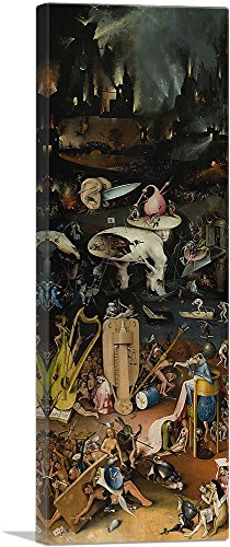 ARTCANVAS The Garden of Earthly Delights - Hell Panel 1515 Canvas Art Print by Hieronymus Bosch - 36