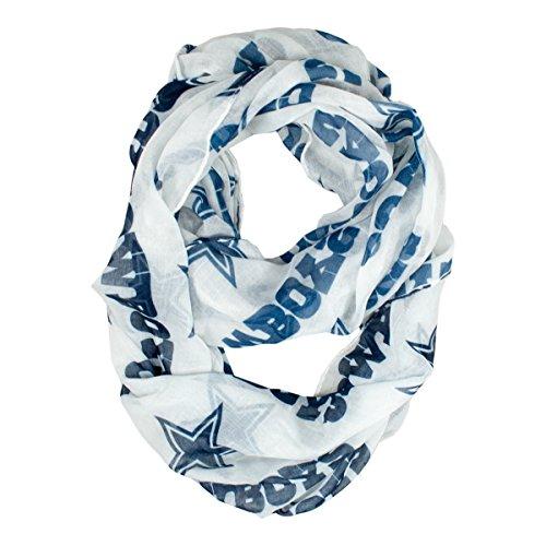 Nfl Scarves Shop (Dallas Cowboys White Infinity Scarf-9879)