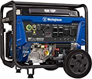 Westinghouse WGen9500 Heavy Duty Portable Generator - 9500 Rated Watts & 12500 Peak Watts - Gas Powered -