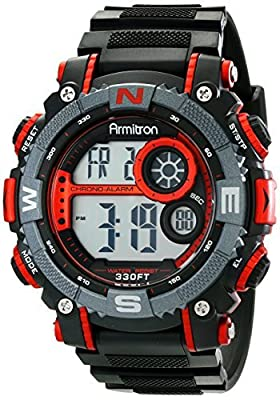Armitron Sport Men's 40/8284 Digital Chronograph Resin Strap Watch
