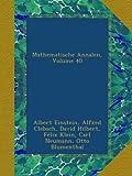 img - for Mathematische Annalen, Volume 40 book / textbook / text book