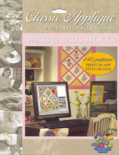 Electric Quilt Classic Applique 1920's & 1930's Blocks for EQ5 and EQ6 CD