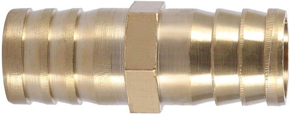 14mm 2pcs Adaptador de tuber/ía Adaptador de uni/ón de tubo de espina de lat/ón de 2 v/ías de lat/ón recto 6//8//10//12//14//16 20mm Conector de espiga recto