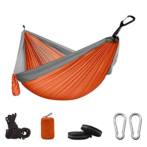 LYYN Portable Camping Parachute Hammock Survival Garden Outdoor Furniture Leisure Sleeping Hamaca Travel Double Hanging…