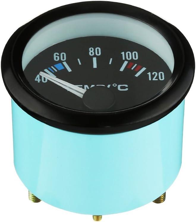 WarmCare 2 52mm Digital LED Water Oil Temperature Temp Gauge Electric Universal Car Pointer Meter 40-120℃ Black