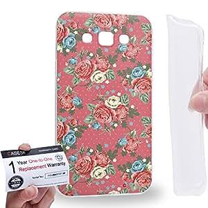 Case88 [Samsung Galaxy E7] Gel TPU Carcasa/Funda & Tarjeta de garantía - Art Drawing Fashion Pink Blossom Floral Pattern Art1405