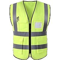 Hycoprot Chaleco de seguridad Reflectante Hi Vis Viz Alta visibilidad Ropa de trabajo Gerente ejecutivo Chaqueta de…