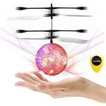 slepwel RC Flying Ball Kids Toys, Mini RC infrared Helicopter Flying Toys Built-in Shinning LED Colorful Lights for Teens, Toy for Boys and Girls