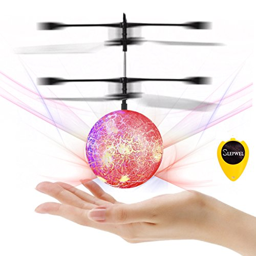 New Mannequin Flying Ball Toys-Slepwel Mini Infrared Induction RC Helicopter Ball with Shinning LED Lights Constructed-in, Distant Management Toys for Boys and Ladies, Youngsters Colourful Magic for Children Toys  Critiques
