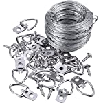 Jovitec Picture Hanging Kit 20 Pieces D-Ring Picture Hangers with Screws, Picture Hanging Wire, Supports up to 30 lbs