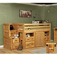 Twin Junior Loft Bed with Storage